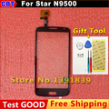 Tela de toque Painel de Digitador de Vidro + Display LCD Para Estrela N9500