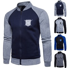 Мужская спортивная куртка для гольфа со стоячим воротником, мужская толстовка с вышивкой в стиле хип-хоп на осень и зиму, спортивная куртка для гольфа