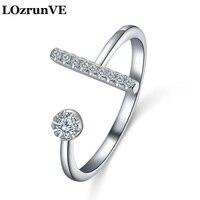 LOzrunve 2018 O índice anel de dedo sobre micro conjunta com a Coreia Do Sul trendsetter feminino presente de aniversário anel da jóia