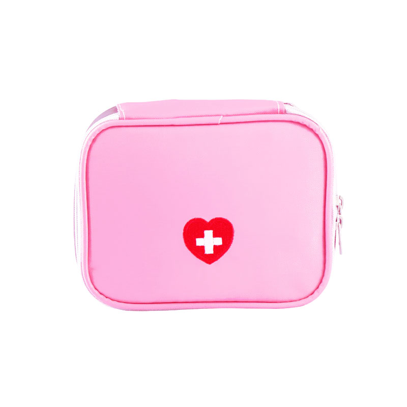 Pink Gray Travel Mini First Aid Kit Bags Survival Emergency Kit Pill Storage Bag Waterproof Nylon Outdoor Medicine Bag