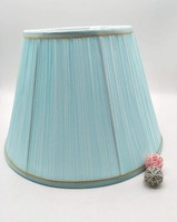 E27 lamp shade for table lamp bedroom lamp shade round shape Light blue cloth art lamp shade