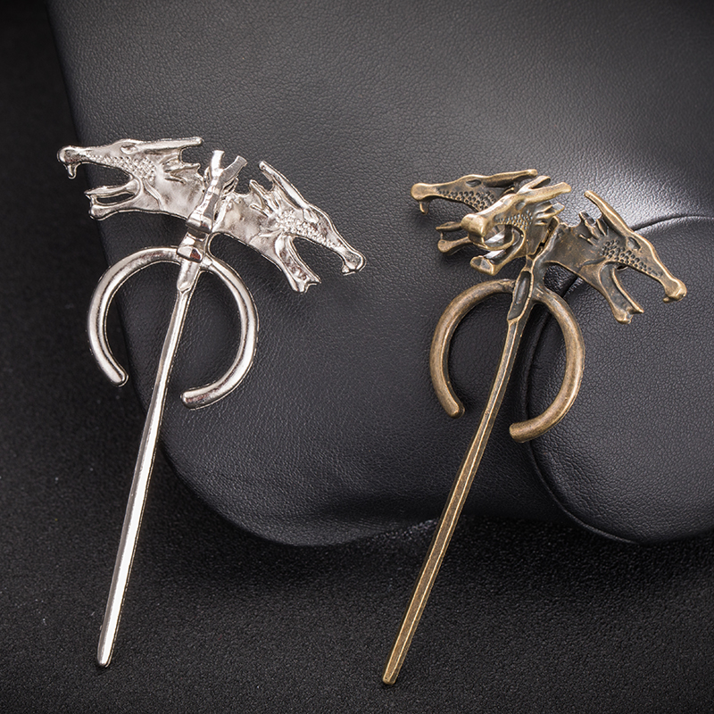 Game of Thrones Song of Ice and Fire Brooch Hand of the King Lapel Inspired Authentic Prop Pin Badge Brooches Wholesale