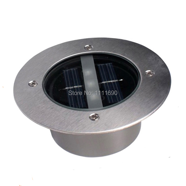 LED Outdoor Solar buried led lamps Ground Lamp New LED Garden lawn light Tempered glass Solar Powered Led Underground Lights