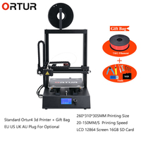 Все линейные направляющие высокоскоростные 3d принтеры s ЖК экран 12864 квазипромышленного класса полусборка Ortur4 3d принтер машина