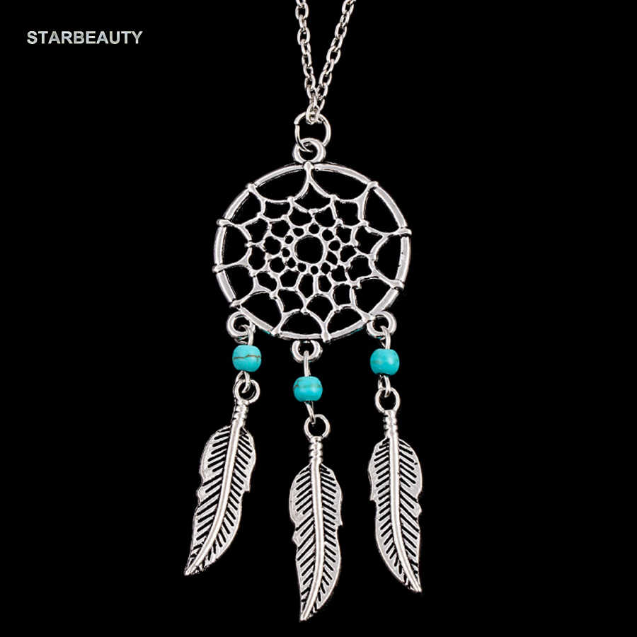 Catch Dream Net Necklace, Three Green Stones Dreamer Wing Necklaces Trendy Leaf Necklace Women Mens Neckless 4 Types