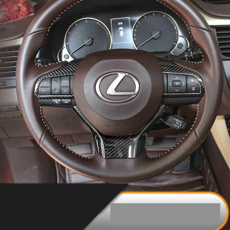 car styling carbon fiber car steering wheel trim decoration for lexus es200 es250 es300h rx200t rx350 rx450h gs250 gs450h interior vent outlet cover trim 7pcs for lexus rx200t rx450h 2016 left hand drive car