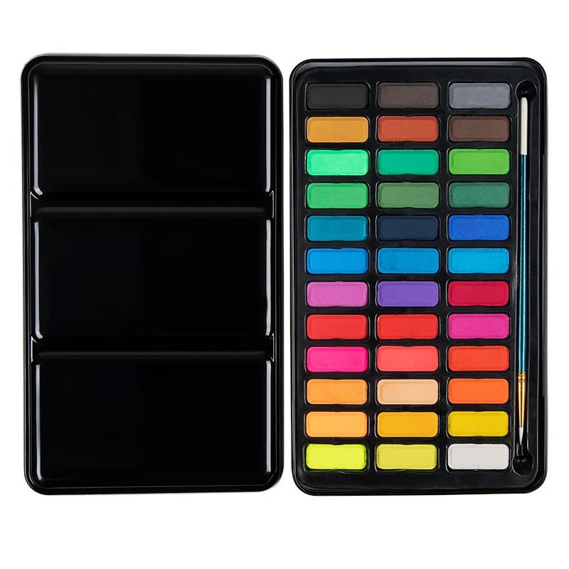 Professionelle 36 Farbe Solide Aquarell Farben Set Metall Box Kunst Aquarell Pigment Farbe für Zeichnung Kunst Material Liefert