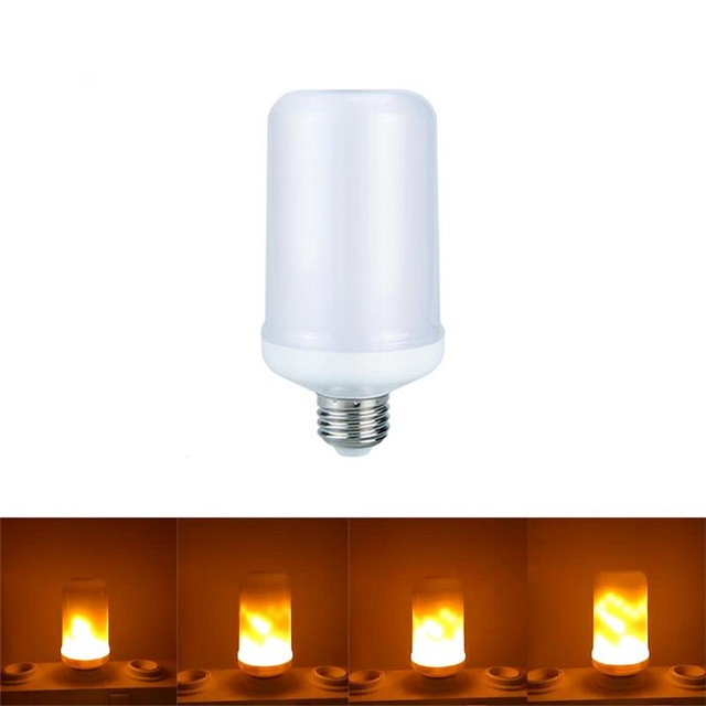 LED lamp Flame Effect Fire Light Bulbs E27 E26 2835SMD LED Burning Light Flicker Flame Lamp Bulb 1300K AC100 265V in LED Bulbs Tubes from Lights Lighting