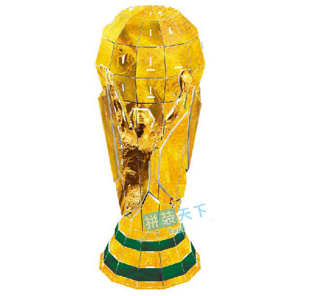 2014 world cup trophy 1 1 real size replica paper model. Black Bedroom Furniture Sets. Home Design Ideas