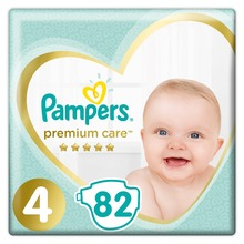 Подгузники Pampers Premium Care 9-14 кг, 4 размер, 82 шт..
