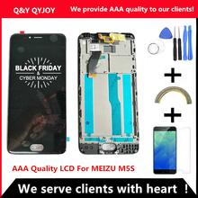 AAA jakości wyświetlacz LCD + rama dla MEIZU M5S wyświetlacz Lcd 5 2 Cal + ekran dotykowy Digitizer ekran dla MEIZU M5S m612h LCD tanie tanio 1280x720 Pojemnościowy ekran LCD For MEIZU M5S 3 Nowy QYINTLCRACYGYP AAA Quality LCD For MEIZU M5S Lcd Display Black White LCD For MEIZU M5S Digiziter Assembly