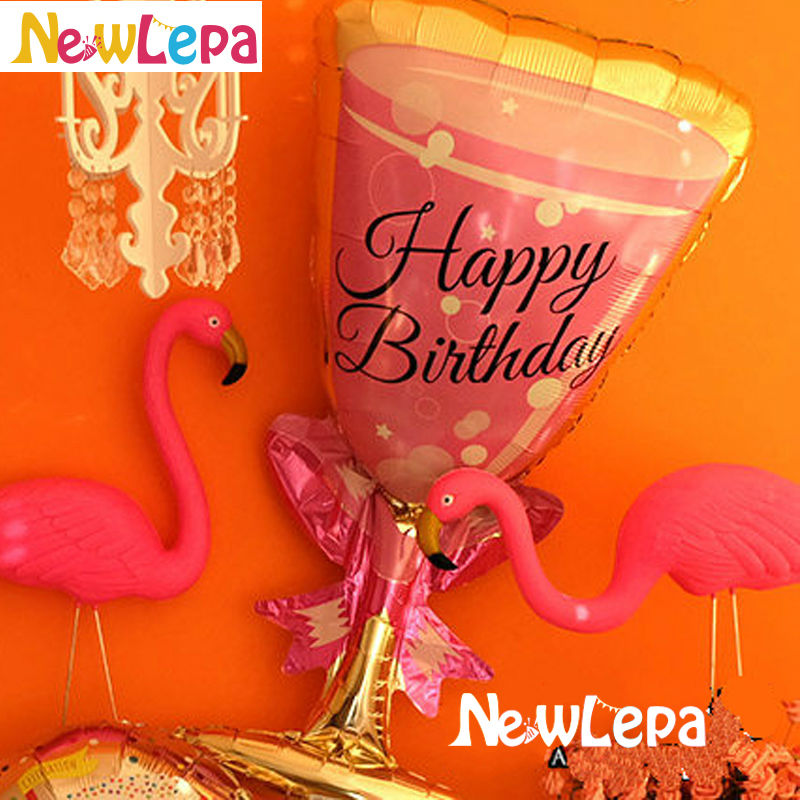 Nove teme Flamingo Birthday Foil Balloons Happy Birthday Dekoracija - Prazniki in zabave - Fotografija 5
