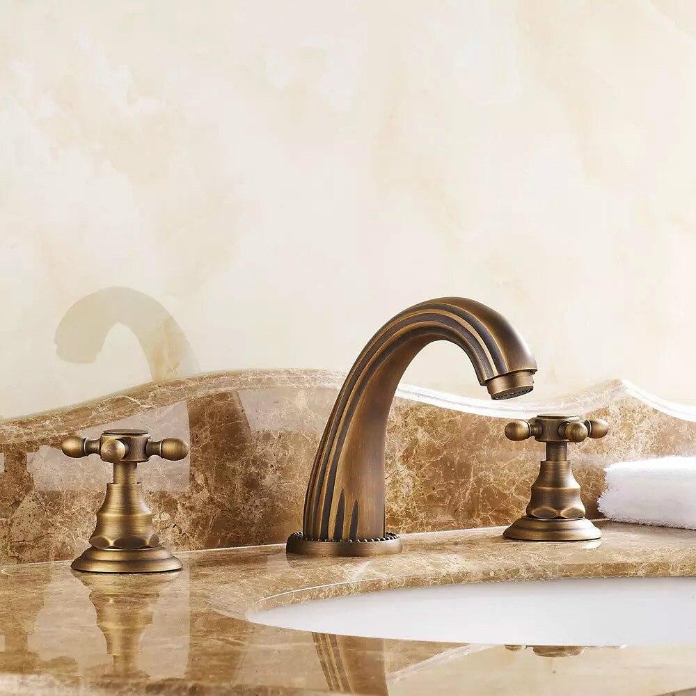 BECOLA смесители античная бронза цвет кран в ванную под старину античная латунь бассейн 3 шт. Набор кран Бесплатная доставка GZ 8204