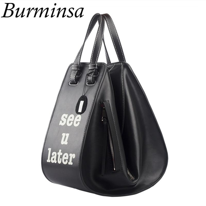 Burminsa Brand Hammock Genuine Leather Bags Luxury Women Large Tote Bags Designer Handbags High Quality Shoulder Messenger Bags