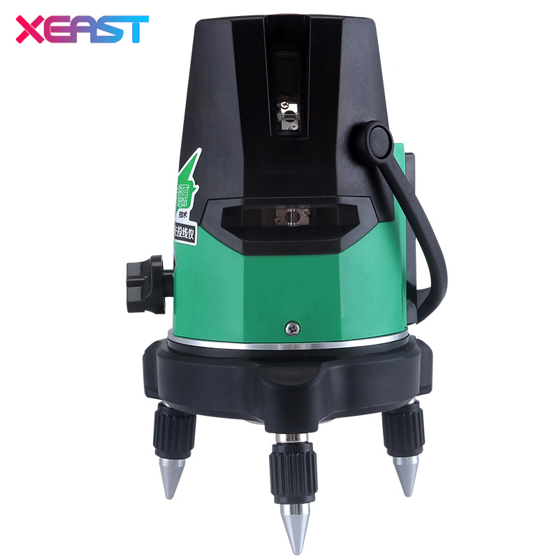 XEAST XE-18A NEW Green laser level 5 line 6 point meter 360 degree laser line level Self Leveling With tilt mode Outdoor kapro laser level laser angle meter investment line instrument 90 degree laser vertical scribe 20 meters