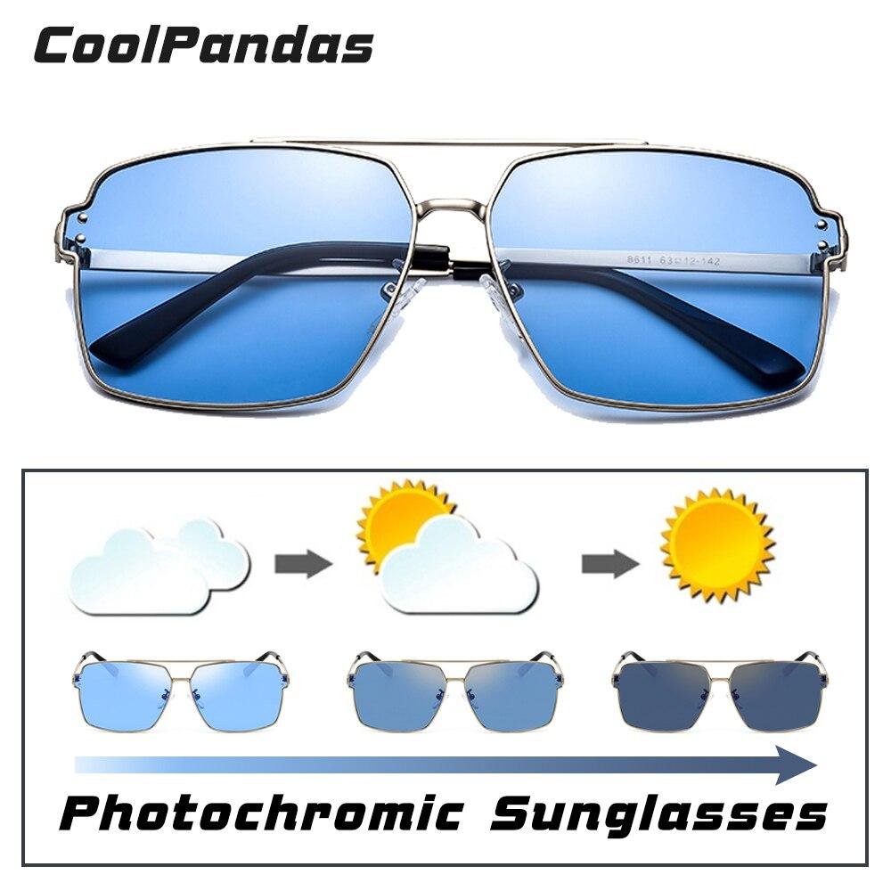 Platz Photochrome Sonnenbrille Männer Frauen Polarisierte Chameleon Gläser HD Sonnenbrille Blau Gelb Tag Nacht Vision Fahren Brillen