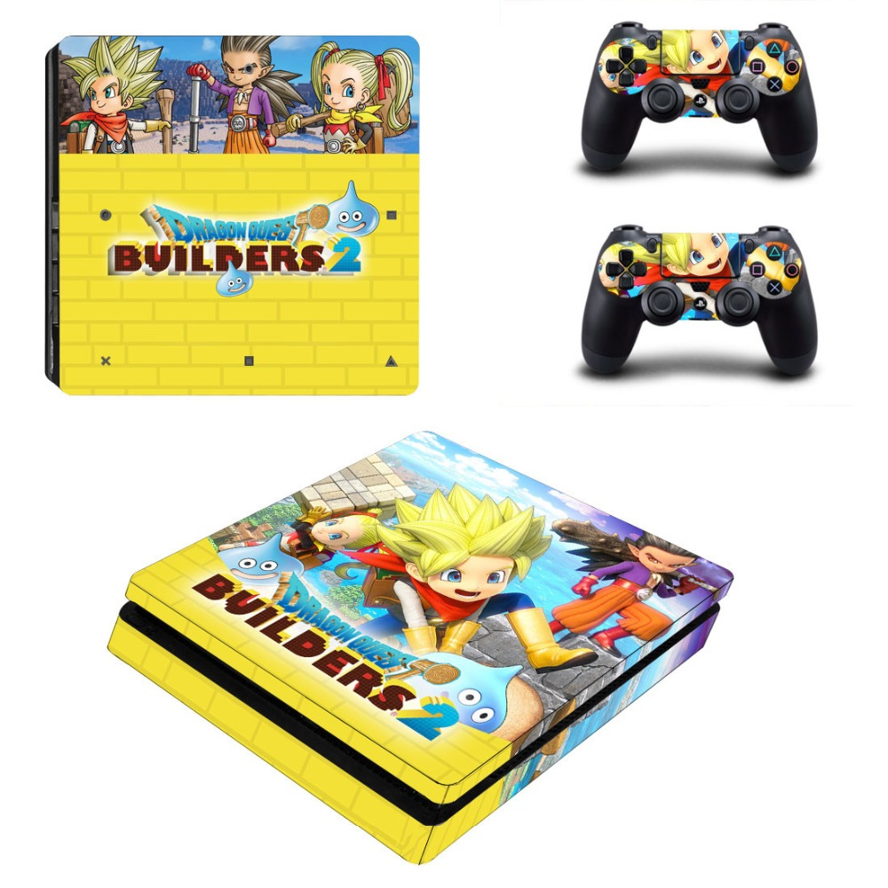 Game Dragon Quest Builders PS4 Slim Skin Sticker For PlayStation 4 Console and Controller For Dualshock 4 PS4 Slim Sticker Decal image