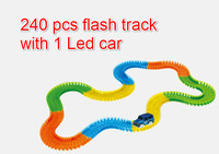 MAGIC With TRACKS Miraculous Glowing Race Track Bend Flex Flash In The Dark Assembly Car Toy