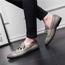 Men's Casual Shoe Men Shoes Pu Leather Flats Men Shoes Luxury Brand Loafers Mens Loafers Flats Men's Boat Shoe Plus Size 46 47