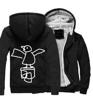 Winter Male Sweatshirt Warm Fleece Thick Hoodies Men Streetwear Sportswear