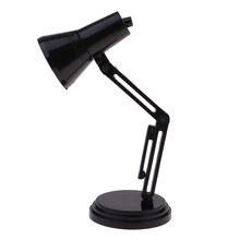 1/6 Scale Black LED Desk Lamp Model Furniture for Hot Toys//Blythe/BJD Dollhouse Accessory Kids Pretend Play Toy(China)