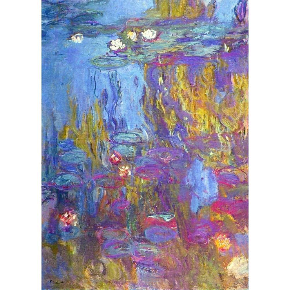 Кувшинки синий Клода Моне картины маслом воспроизводства пейзажи Art Ручная роспись Home Decor