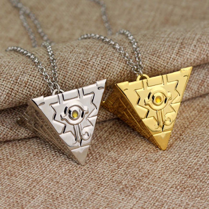 MQCHUN 3D Yu-Gi-Oh Necklace Anime Yugioh Millenium Pendant Jewelry Toy Yu Gi Oh Cosplay Pyramid Egyptian Eye Of Horus Necklace ...