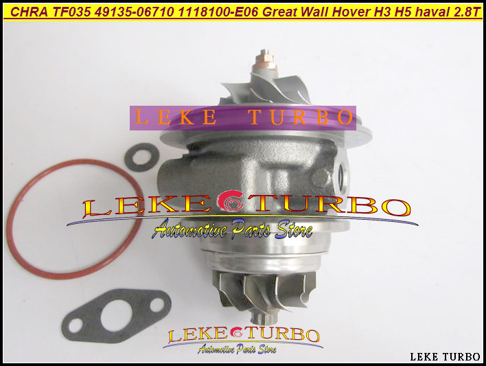 Turbo Cartridge CHRA TF035 1118100-E06 49135-06710 1118100-E03 49135-06700 For Great Wall Pickup Hover H3 H5 haval GW2.8TC 2.8L turbo cartridge chra tf035 1118100 e06 1118100e06 49135 06710 4913506710 for great wall hover h3 h5 haval 2 8t 2 8l gw2 8tc 70kw