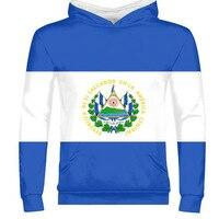 EL SALVADOR male custom made name number slv zipper sweatshirt nation flag spanish republic salvadoran sv print photo clothing