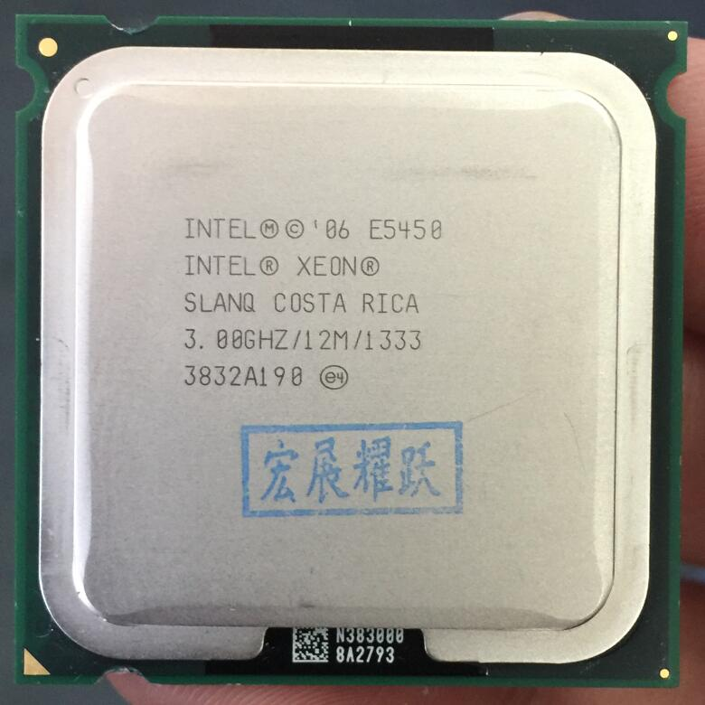 Intel Xeon E5450 SLANQ CO Quad-Core procesador cerca de LGA775 CPU trabaja en LGA 775 placa base no necesita adaptador