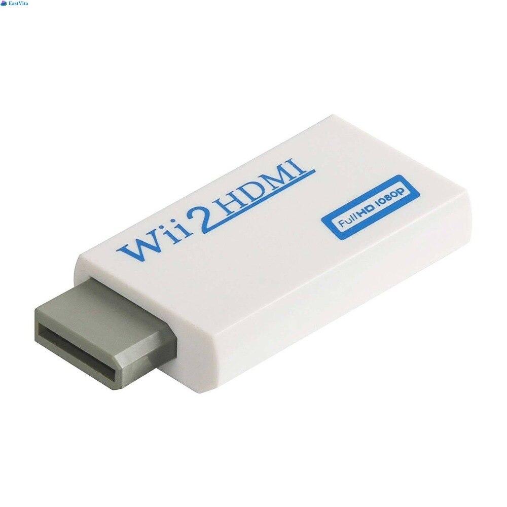 EastVita 10 pièces offre spéciale Wii vers HDMI adaptateur convertisseur Full HD 1080 P vidéo 3.5mm sortie Audio pour moniteur HDTV livraison gratuite r30