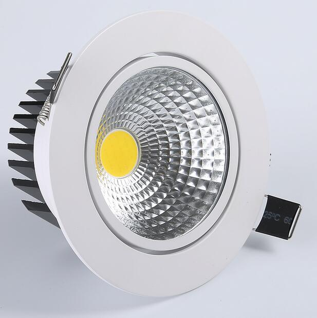 Dimmable Подпушка свет 6 Вт 9 Вт 12 Вт Spot LED Подпушка огней затемнения COB LED Spot встраиваемые Подпушка светильники для гостиной 110 В 220 В