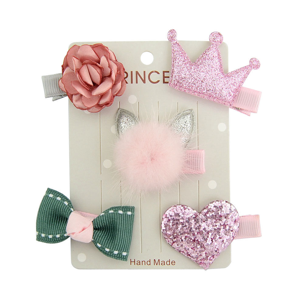 5PcsSet Barrettes Hairpin Candy Color Headwear Hair Clip