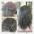 Stcok человеческих индийские седые волосы full lace wig для старых женщин в наличии