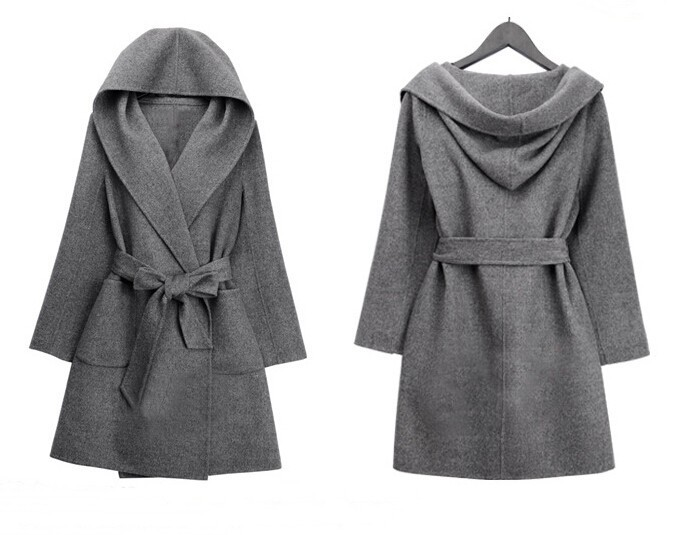 abrigos mujer UK 2017 Fall / Winter Women Simple Cashmere wool ...