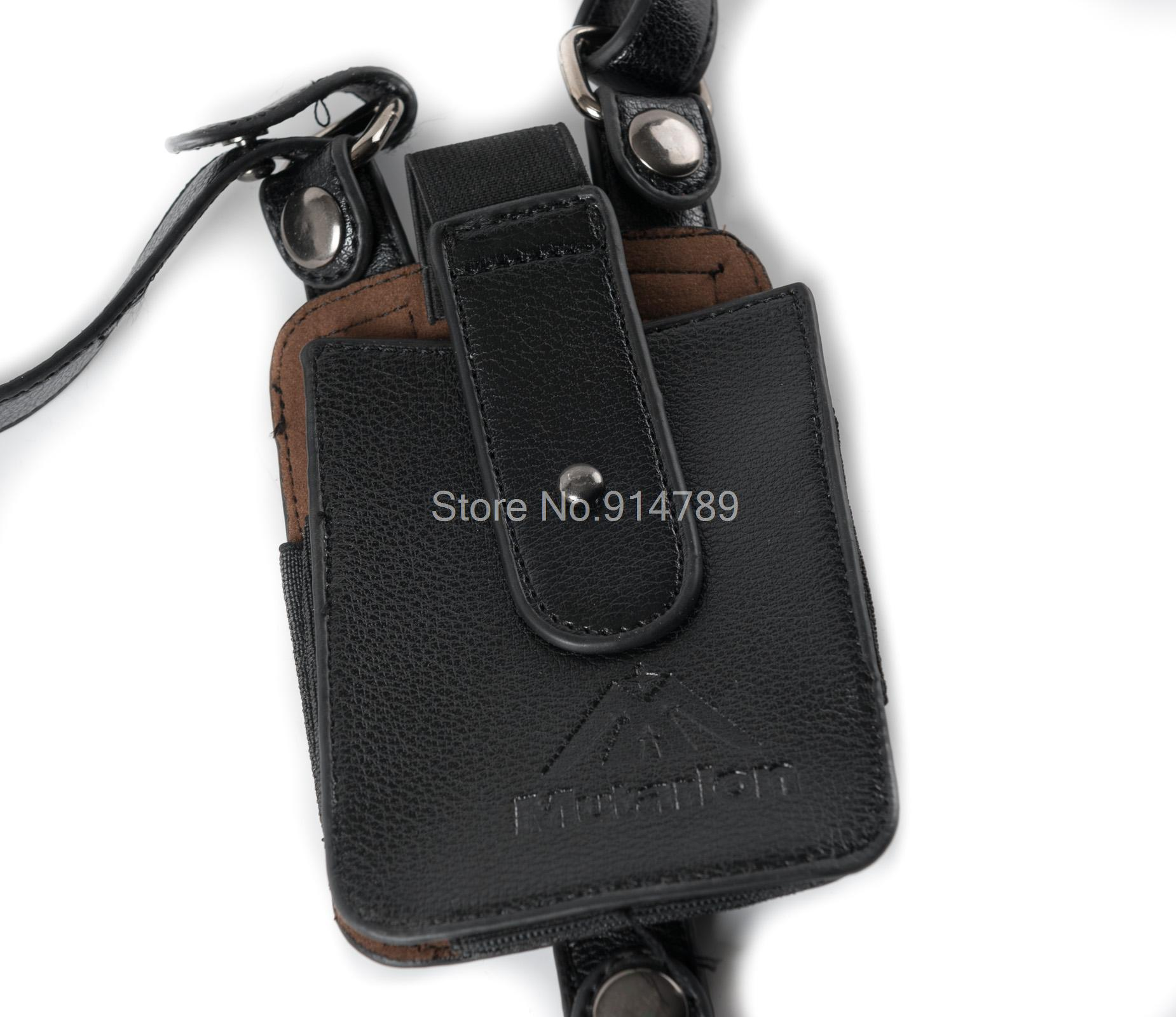 LEATHER ANTI-THEFT HIDDEN UNDERARM HOLSTER STYLE SHOULDER WALLET PHONE BAG BLACK-35788