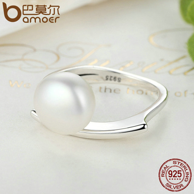 Sterling Silver Freshwater Cultured Pearl Ring