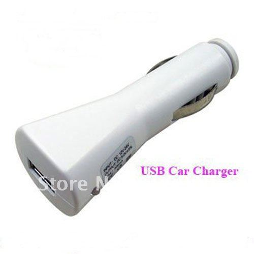 50pcs Promotion Hot Sale Rocket Shape USB car charger 5V-1A Car USB for iPod iPhone3G