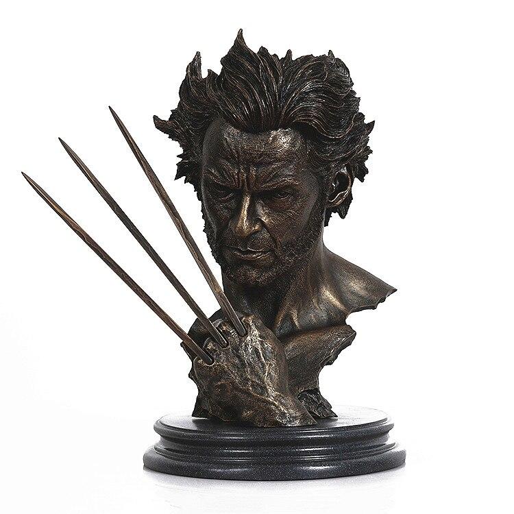 Large 12/'/' Marvel Hero X-MAN Resin Statue Wolverine Logan Bust Model Jackman