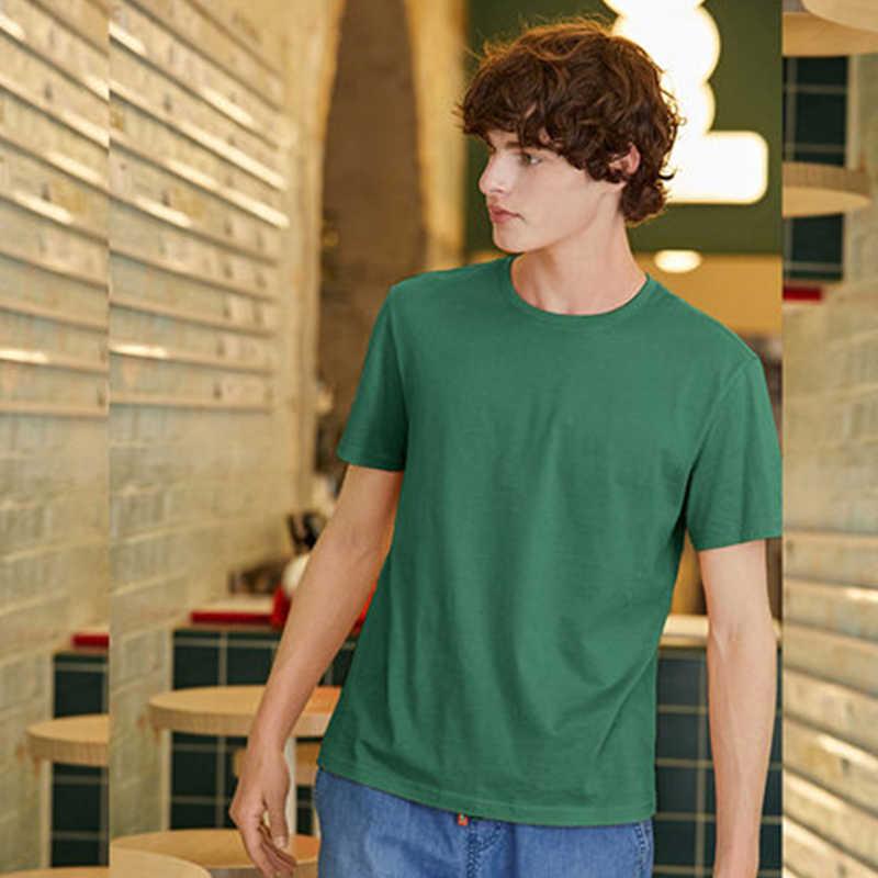 SEMIR 남자 T 셔츠 패션 2020 코 튼 망 T-셔츠 화이트 티 셔츠 캐주얼 여름 T-셔츠 남자 Camiseta Masculina 옷 위로