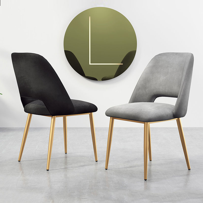 Modern Minimalist Nordic Stainless Steel Dining Chair Casual Furniture Home Chair Restaurant Kitchen Cafe Sofa Chair Office
