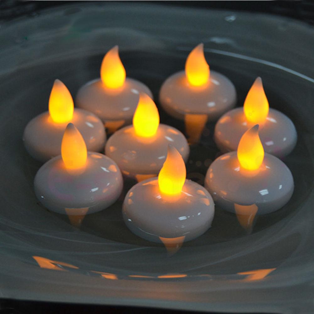 12 pcs Water Sensor LED Flickering Flameless Floating ...