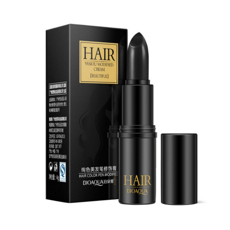 Profession Temporary Hair Dye Cream Black/ Brown Mild Fast One-off Hair Color Pen Cover White Hair DIY Styling Makeup Stick ...