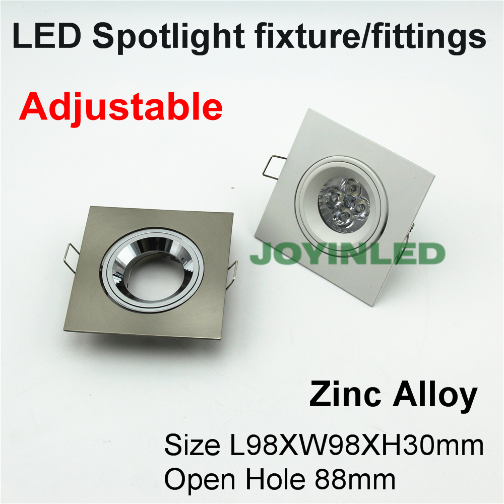 4PCS Diameter 50mm halogen bulb fixtures trim ring Frame led mr16 gu10 gu5.3 LED Spot light fixtures square