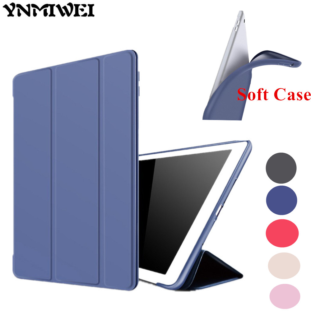 YNMIWEI Leather Case For iPad Air2 Ultra Thin Slim Smart Cover Case For iPad Air 2 iPad6 9.7 inch Soft Silicon Cases +protector arrival selling ultra thin super slim sleeve pouch cover microfiber leather tablet sleeve case for ipad pro 10 5 inch
