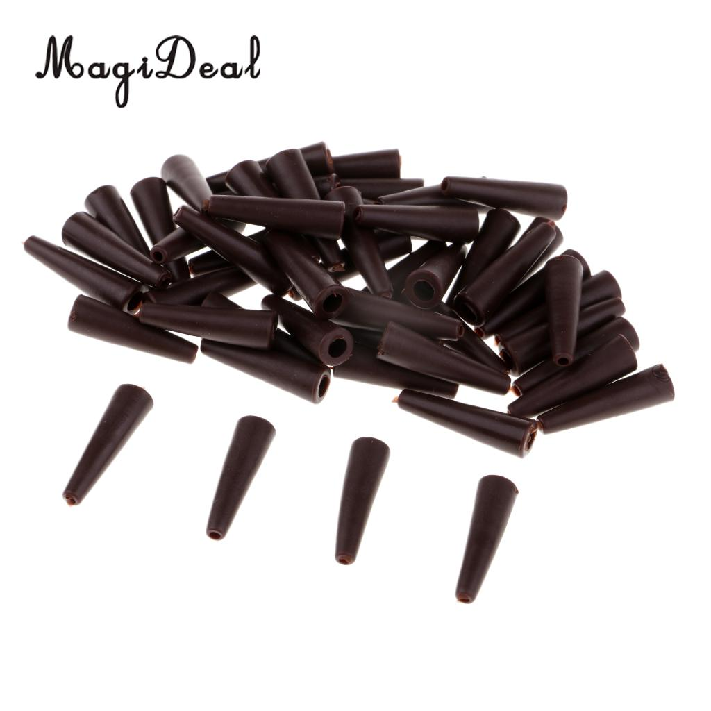 50 Pieces Tail Rubber Tubes for Safety Lead Clips Carp Fishing Rig Sleeves