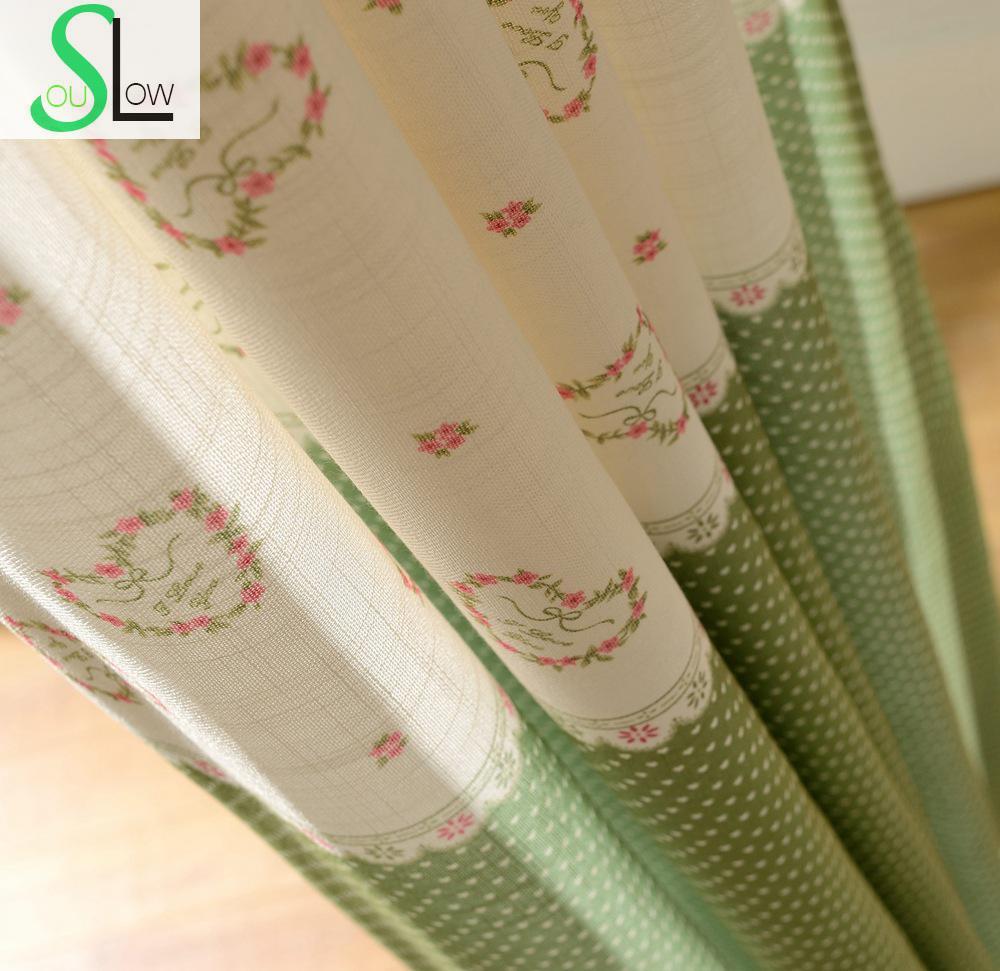 koreaanse bamboe stof stiksels guirlande printing gordijn franse venster cartoon gordijnen kinderen voor slaapkamer woonkamer keuken in koreaanse bamboe