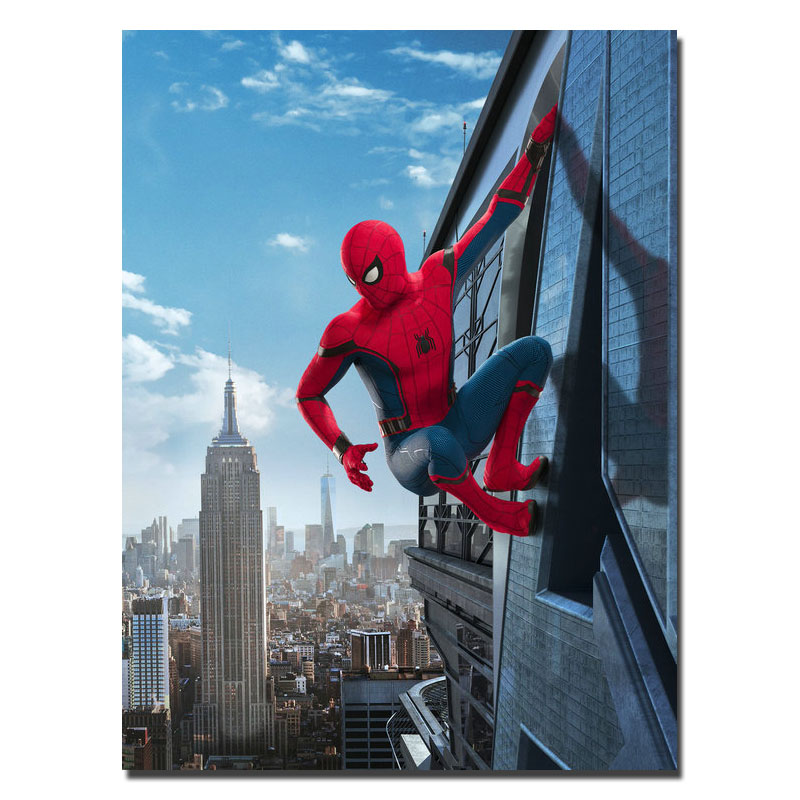 2017 SPIDERMAN HOMECOMING Tom Holland Superhero Movie Canvas Or Silk Poster 13x18 24x32 inches -3 ...