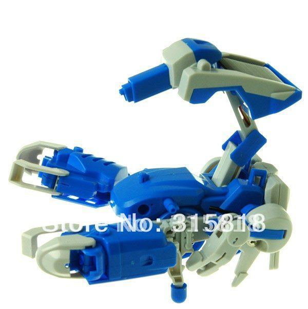 8pcs, 3 In1 Educational DIY Solar Robot scorpion tank Kit Toy