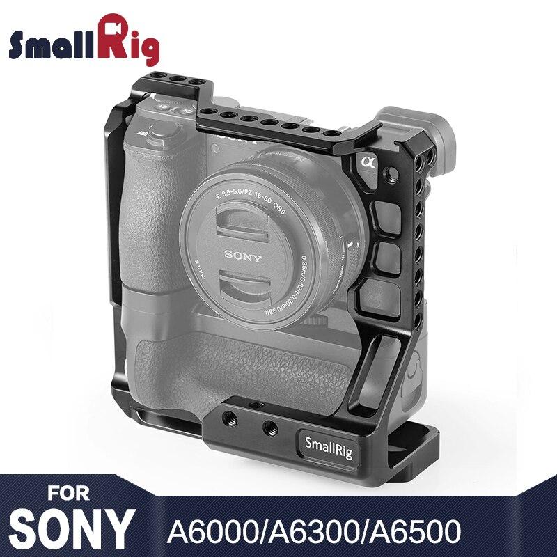 SmallRig A6000 Gabbia Kit DSLR Cage Fotocamera per Sony A6000/A6300/A6500 con Meike MK-A6300/A6500 Batteria grip 2268